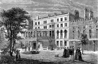 Clarence House - An 1874 drawing of Clarence House