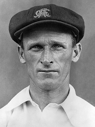 Australian Cricket Hall of Fame - Image: Clarrie Grimmett 1932