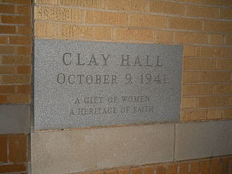 Clay Hall - Clay Hall Dormitory Cornerstone