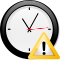 Clock and warning.svg