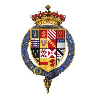 George Talbot, 6th Earl of Shrewsbury - Quartered arms of Sir George Talbot, 6th Earl of Shrewsbury, KG