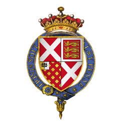 Coat of arms of Sir Ralph Neville, 4th Earl of Westmorland, KG.png