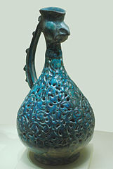 Ewer with rooster head