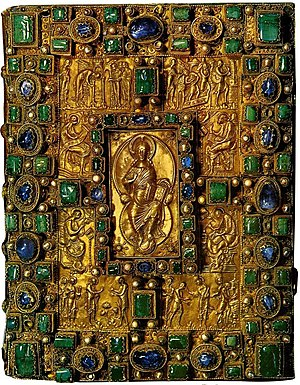 Codex Aureus of St. Emmeram - Gem-encrusted cover of the Codex Aureus of St. Emmeram.