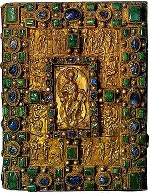 Codex Aureus of St. Emmeram - Gem-encrusted cover of the Codex Aureus of St. Emmeram.