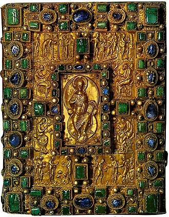 Treasure binding - Gem-encrusted cover of the Codex Aureus of St. Emmeram, 870