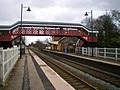 Codsall Station buildings and the pedestrian bridge - geograph.org.uk - 1726498.jpg