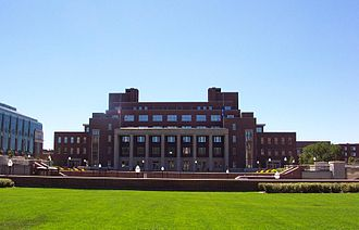 Coffman Memorial Union - Coffman as viewed from Northrop Mall