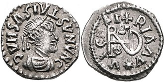 Gepids - Coin of the Gepids ca. 491-518. Sirmium mint. In the name of Byzantine Emperor Anastasius I.