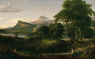 Arcadia (utopia) - Thomas Cole's The Arcadian or Pastoral State, 1834