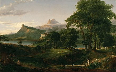 "Thomas Cole ""The Course of Empire The Arcadian or Pastoral State"", US, 1836. Cole Thomas The Course of Empire The Arcadian or Pastoral State 1836.jpg"