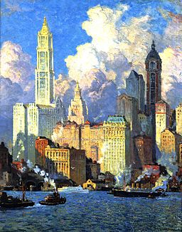 Colin Campbell Cooper, Hudson River Waterfront, N.Y.C