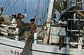 Collectie NMvWereldculturen, TM-20020640, Dia, 'Aan boord van een Buginese prauw in de haven Sunda Kelapa', fotograaf Henk van Rinsum, 1980.jpg