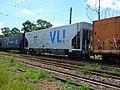 Comboio parado sentido Boa Vista no pátio da Estação Pirapitingui em Itu - Variante Boa Vista-Guaianã km 186 - panoramio (2).jpg