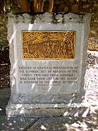Commemorative monument, the Alamo, San Antonio, Texas, June 4, 2007