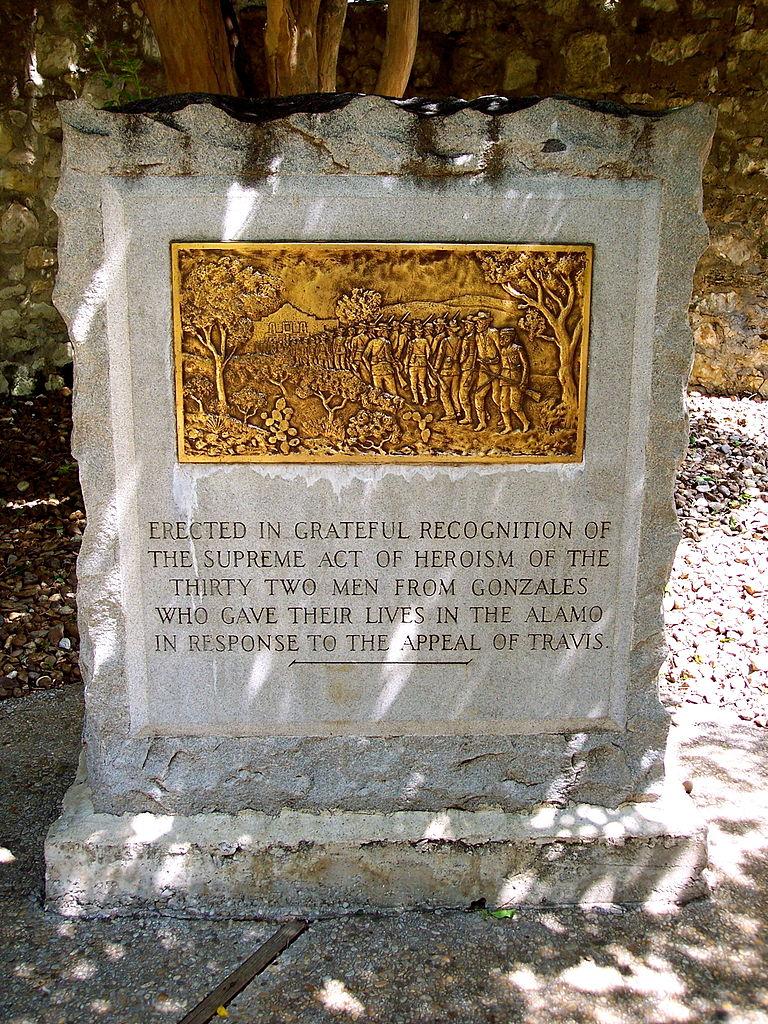 File Commemorative Monument The Alamo San Antonio Texas