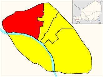 Commune I (Niamey) - Image: Commune I (Niamey Map)