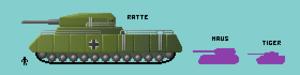 Landkreuzer P. 1000 Ratte - Illustration of the Landkreuzer P. 1000 Ratte in comparison to other German tanks