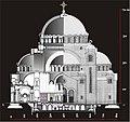 Composite section plan Church of Saint Sava in Belgrade.jpg