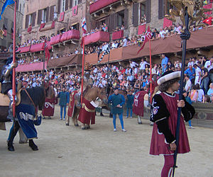 Contrade of Siena - The Corteo Storico Parade for the memory of the Abolished Contrade