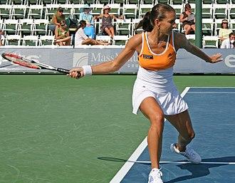 Corina Morariu - Corina Morariu hitting a forehand