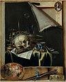 Cornelius Norbertus Gijsbrechts - Trompe l'oeil Studio Wall with a Vanitas Still Life.jpg