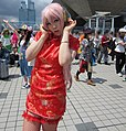 Cosplayer of cheongsam Megurine Luka at Comic Market 82 20120821.jpg