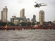 Cost Guard Helicopter Chowpatty
