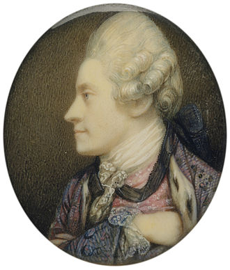 Maria Cosway - Richard Cosway's self-portrait in miniature, c. 1770