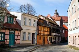 Cottbus, Gerberhäuser along Uferstraße