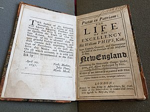 Robert Calef - Cotton Mather's anonymous Life of Phips