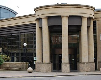 High Court of Justiciary - Court entrance the High Court of Justiciary situated at the Saltmarket in Glasgow