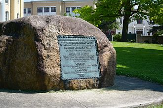 Treaty of Canandaigua - Monument commemorating the treaty on the lawn of the Ontario County Courthouse, Canandaigua, NY