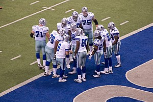 2008 Dallas Cowboys season - The Cowboys' offense breaks huddle against the New York Giants, December 14, 2008