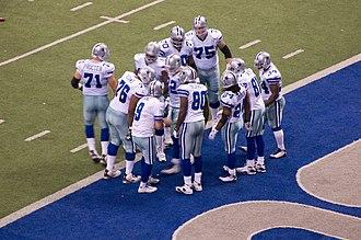 2008 Dallas Cowboys season - The Cowboys' offense breaks huddle against the New York Giants, December 14, 2008