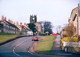 Coxwold village looking up the hill