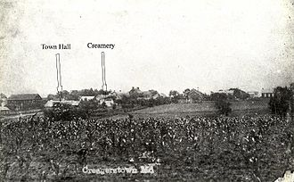 Creagerstown, Maryland - Creagerstown before the 1914 fire.