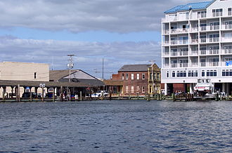 Crisfield, Maryland - Crisfield's waterfront and town pier