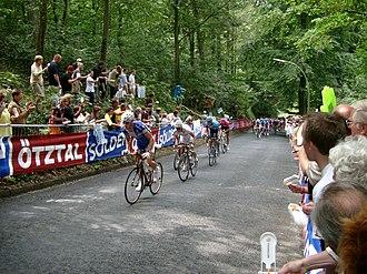 EuroEyes Cyclassics - Tom Boonen and Fabian Wegmann climbing Waseberg hill in 2007.