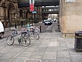 Cycle rack by Manchester Town Hall - geograph.org.uk - 1128596.jpg