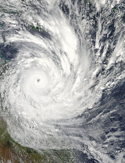 Image satellite du cyclone Yasi le 2de février 2011 (source : NASA)