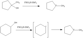 Magic acid - Image: Cyclopentyl cation