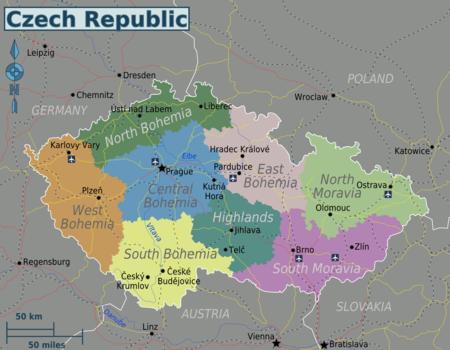 Repubblica Ceca Cartina Europa.Repubblica Ceca Wikivoyage Guida Turistica Di Viaggio