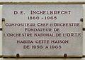 D. E. Inghelbrecht plaque - 2 Place Marcel Aymé, Paris 18.jpg