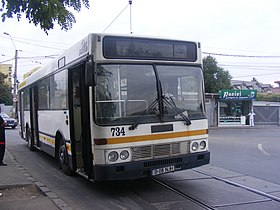 DAF SB220 number 734 in on line 162 in Giulesti, Bucharest.jpg
