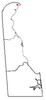 Location of Ardentown, Delaware
