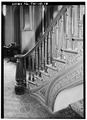 DETAIL OF MAIN STAIRWAY - Colonel McNeal House, Union and Bills Streets, Bolivar, Hardeman County, TN HABS TENN,35-BOL,1-16.tif