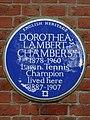 DOROTHEA LAMBERT CHAMBERS 1878-1960 Lawn Tennis Champion lived here 1887-1907.jpg
