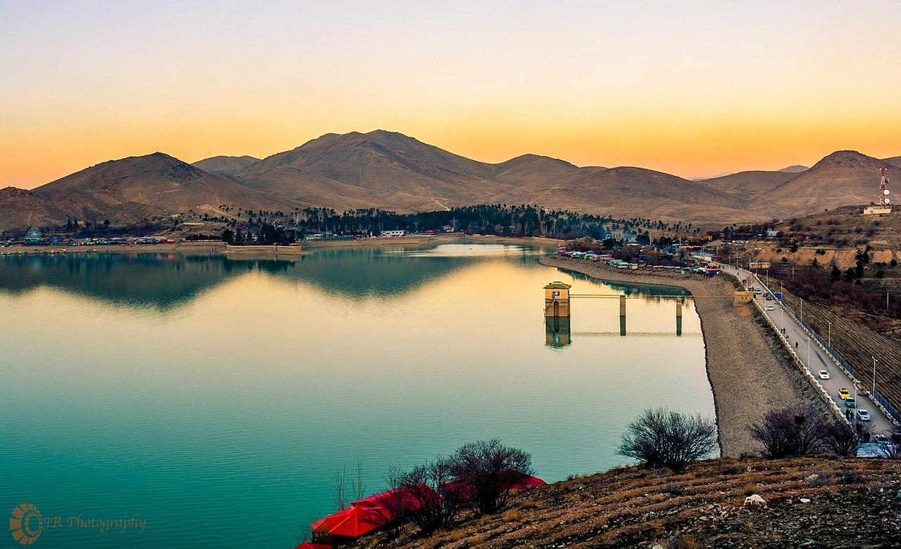 Qargha dam and lake at Kabul, Afghanistan
