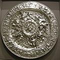 Da un disegno di bernardo strozzi, bacinella con scene della vita di cleopatra, argento, 1620-25, 01.JPG
